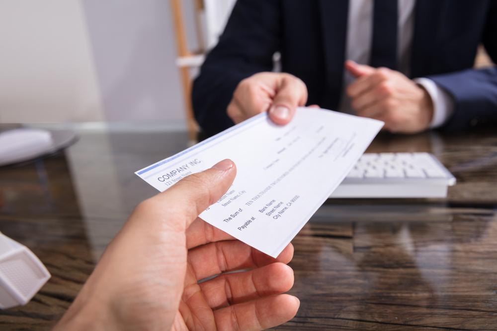 Vos transferts par chèque !