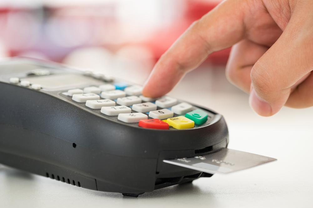 Transfert par carte bancaire en agence